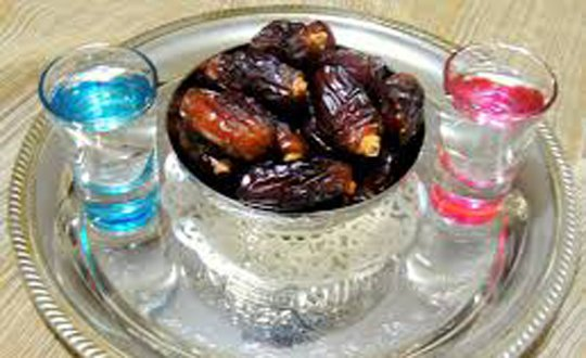 dates and water