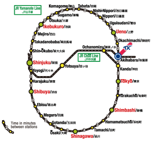 yamanote line gets free wifi on all stations